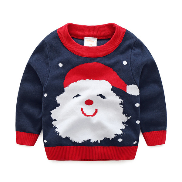 High Quality Boys Cotton Sweater Baby Boy Sweaters O Neck Cartoon Pullovers 3-7 Years Children's Clothing Autumn Winter Red Blue