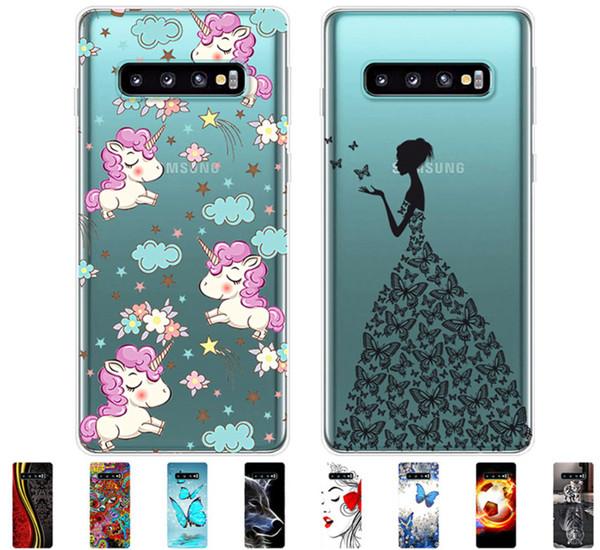 Per Samsung Galaxy S10 Custodia S10Plus Custodia protettiva in TPU per telefono Custodia per Samsung S10 Plus G975F S 10 SM-G973F Soft