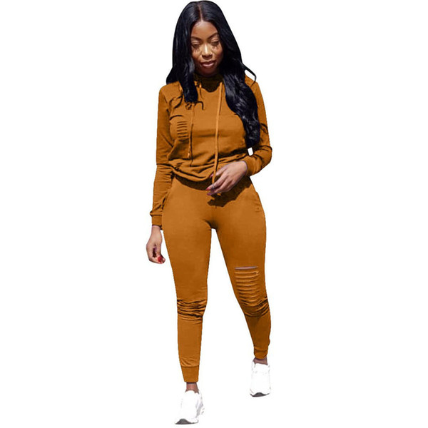 S-xxxl 6 Colors Winter Overalls Autumn Hoodies+pant Tracksuit Fashion Sexy Women's Set Two Pieces Suits Casual Tracksuit Dn8140
