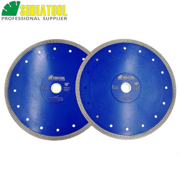 "best selling SHDIATOOL 2pcs pk Dia 10"" 250mm Diamond Cutting Disc Superthin Saw Blades Tile Cutting Wheel for Porcelain Ceramic"