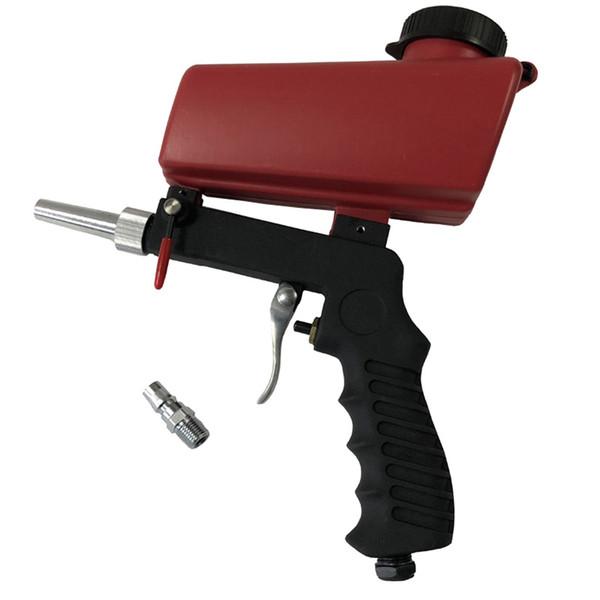 Acquista Pistola Sabbiatura Portatile A Gravità Set Pneumatico Casa Fai Da Te Mini Dispositivo Di Sabbiatura Macchina Sabbiatura Regolabile Con