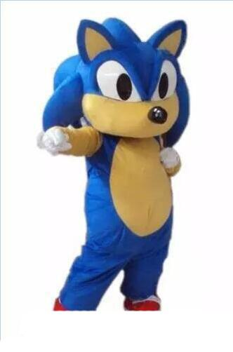2019 Vente d'usine de réduction hérisson Sonic Mascot Costume Cartoon Party ou Commercial Supply taille adulte