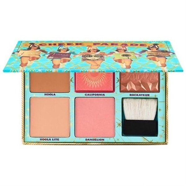 Top Quality ! CHEEK PARADE Blush Bar Spring Blush Limited Edition Highlighter Contour makeup powder blush Palette + Brush
