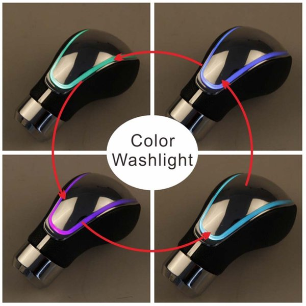 Touch Light Shift Knob Gear Knob LED Leather Color-variable Touch Sensor Shifter Cool Funny Automobile Acessories Popular Hit Car Parts