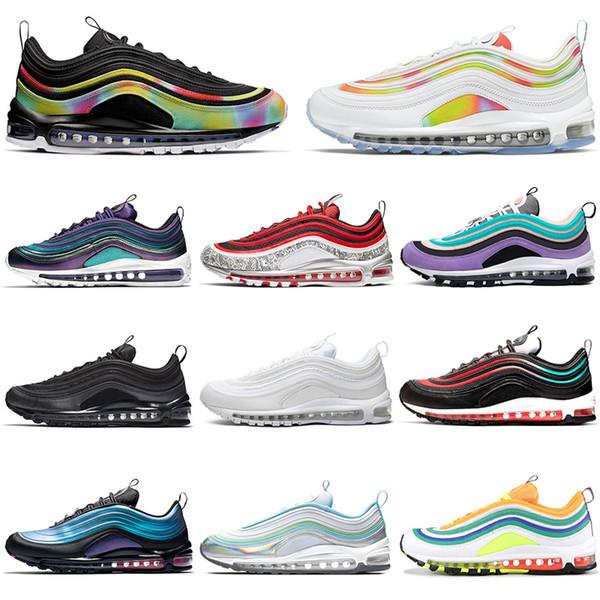 nike air max 97 2019 Yeni ucuz erkekler kadınlar için Koşu ayakkabıları KıRMıZı LEOPARD üçlü siyah beyaz çekme tab Farsça Menekşe pembe erkek eğitmen moda spor sneakers