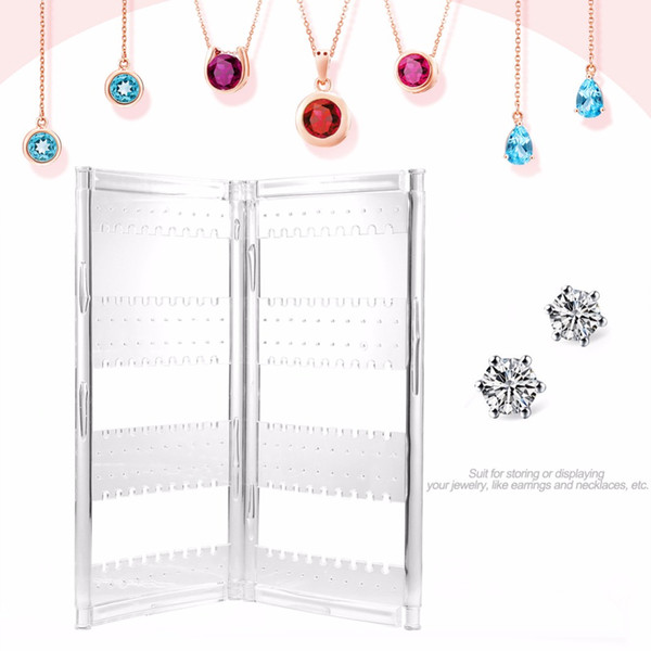 Acrylic Jewelry Holder Hanging Stand Organizer Transparent Clear Necklace Drop Earrings Display For Jewelry Wholesale 2 Door