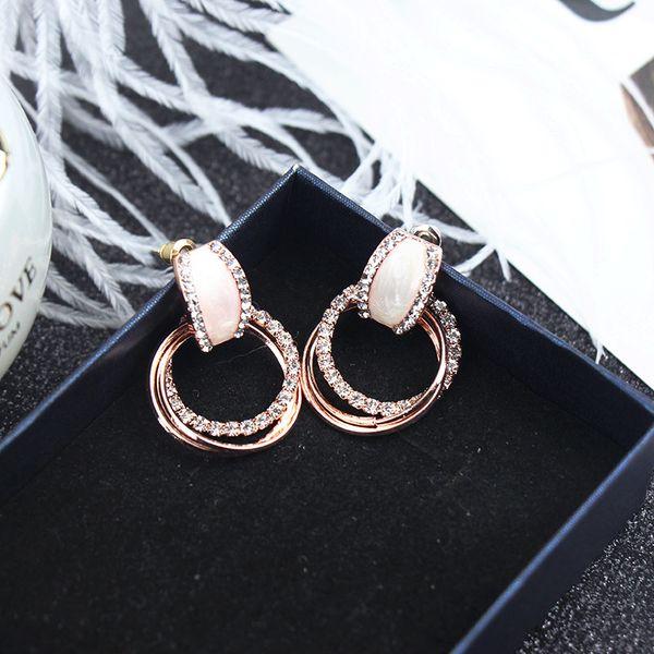 Web Celebrity Yuan Earrings Simple Fashion Elegant Style Earrings Female Personality Versatile Earrings