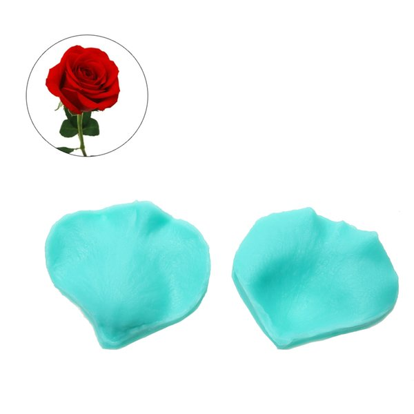baking 2X Rose Flower Petals Silicone Mold Sugar Chocolate Fondant Moulds Baking for Cake Decorating Tools Kitchen Accessories