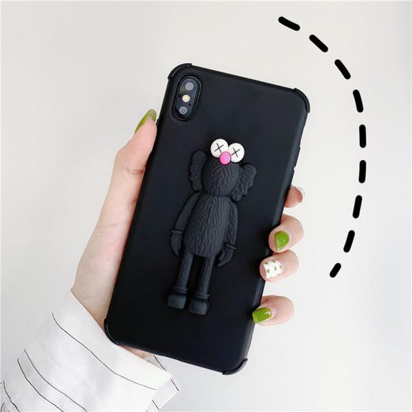 3d caso smartphone novo kaws brinquedos gergelim rua silicone suave tampa do telefone case leite flor porco para iphone huawei samsung oppo xiaomi