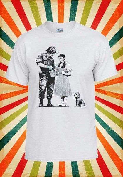 Banksy Stop Et Recherche Street Art Hommes Femmes Gilet Débardeur Unisexe T Shirt 1782