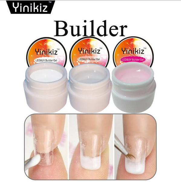 top popular Nail Phototherapy Glue 3 Color French Gel UV Base Extension Glue Thickness Builder Finger Nail Gel Nail Extender 2021