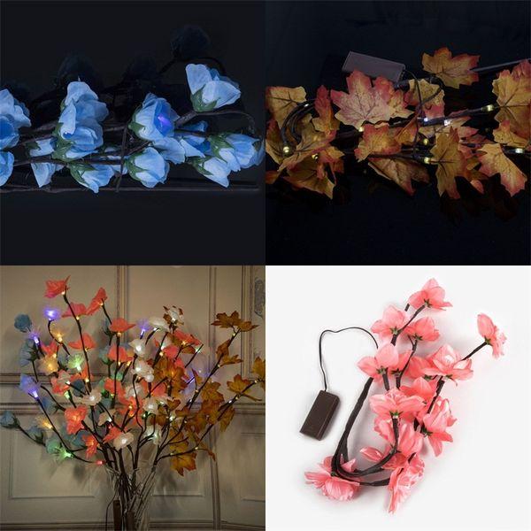 LED Branche Lampe Ins Fleur Artificielle Décoration Intérieure Lumières Colorées Batterie Boîte Coloré Lumière Nouvelle Arrivée 12 5wc L1