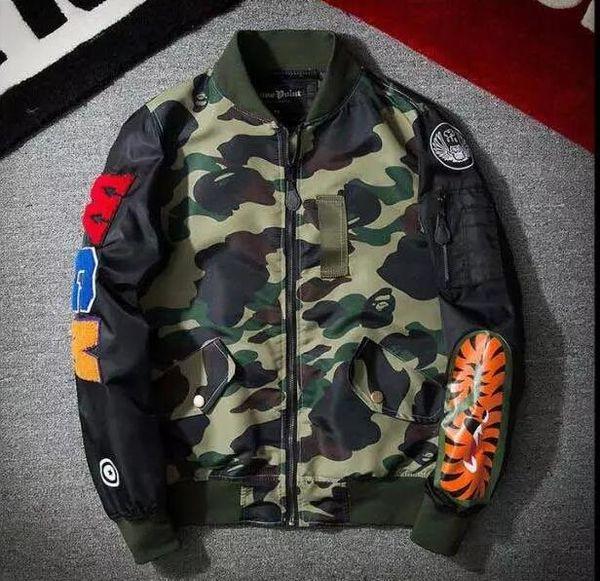 Fall- Big sam KANYE WEST YEEZUS tour MA1 pilot jackets men outdoor sport Bomber aape jacket baseball Windbreaker jacket