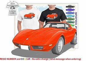 CLASSIC 1978 CORVETTE STINGRAY ILLUSTRATO T MUSCLE RETRO SPORT CAR