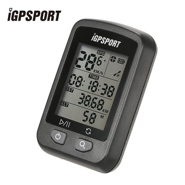 iGPSPORT iGS20E Bicycle Rechargeable Computer GPS Speedometer IPX6 Waterproof Backlight Screen Stopwatch with Mount Accessories #121858