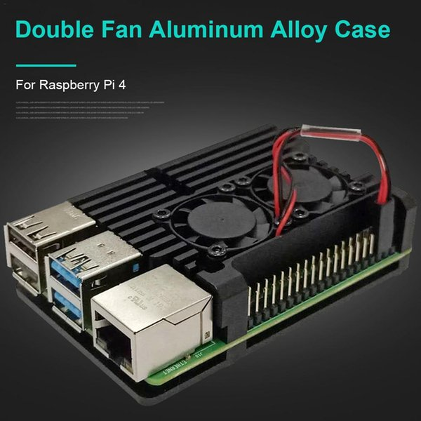 aluminum alloy Heat Cooling Case Aluminum Enclosure for Raspberry Pi 4 with Cooling Fan Hex Wrench