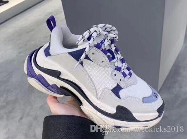 Con extra pizzo Scarpe uomo casual Discount Confortevole Triple S casuale di modo delle donne delle scarpe da tennis di sport atletico scarpa a piedi scarpa outdoor