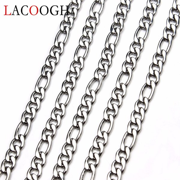 5 mt / los silber farbe edelstahl diy halsketten armbänder kette 3 4 5 mm breite bulk link ketten handgefertigte schmuck finden