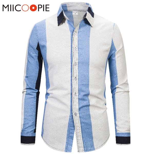2019 Fashion Business Shirts Male Linen Long Sleeves Slim Fit Chemise Homme High Quality Button Down Men Shirt Dress Top Streetwear From Jst2015,