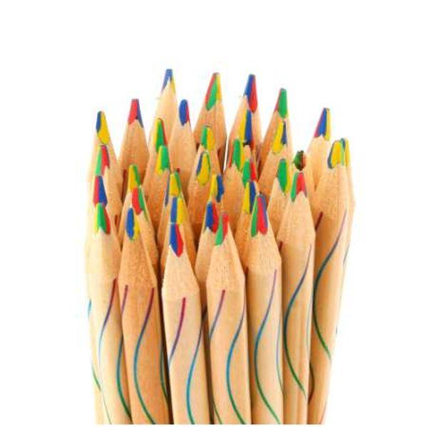 10Pcs/lot DIY Cute Kawaii Wooden Colored Pencil Wood Rainbow Color Pencil for Kid School Graffiti Drawing Painting