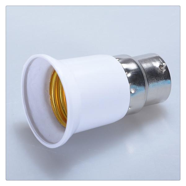 B22 to E27 Light Lamp Bulb Socket Base Converter Edison Screw to Bayonet Cap High temperature resistant