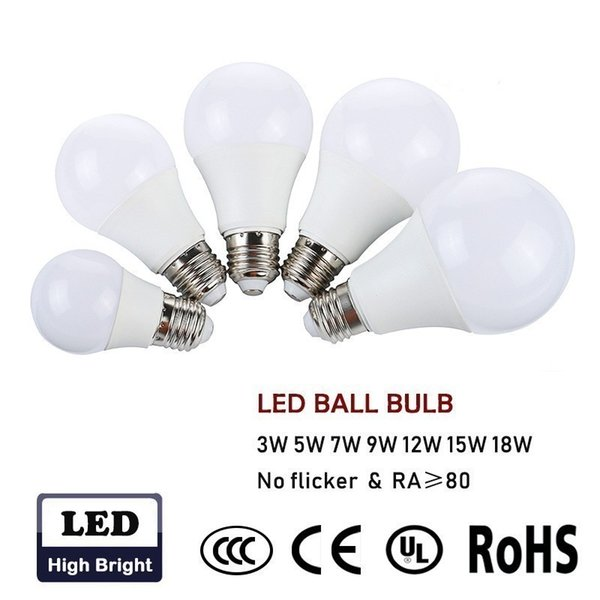 Led Bubble Ball Bulb E27 Led Ball Lamp 220V 3W 5W 7W 9W 12W 15W 18W LED Light Bulbs Light Bulb Energy-saving Light