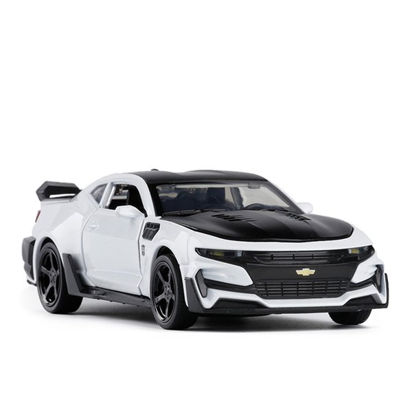 1:32 Camaro Toy Vehicles Model Alloy Pull Back Children Toys Genuine License Collection Gift Simulation Off-Road Vehicle Kids