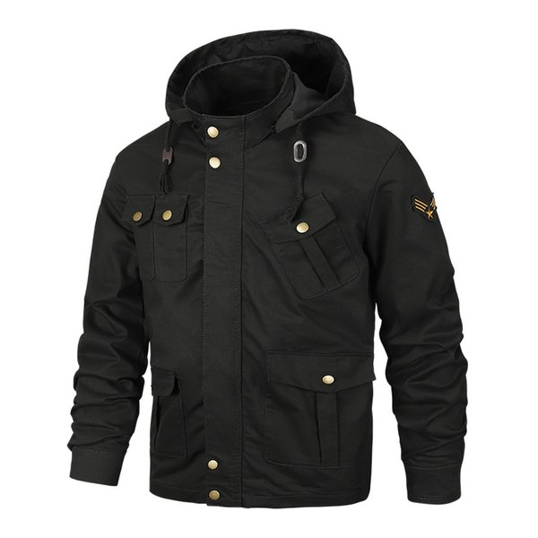 Spring and autumn men's large size jacket American casual jacket men's military jacket men's washed military uniform