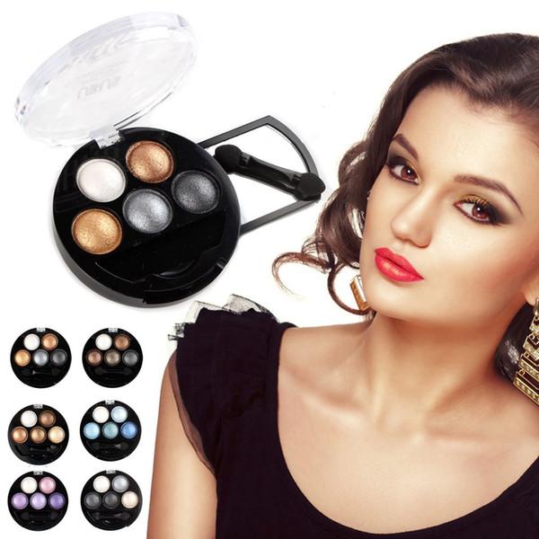 5 Renkler Pırıltılı Göz Farı Paleti Kozmetik Aracı Göz Farı Makyaj Fırça Mat Göz Farı çıplak paleti Glitter Kozmetik
