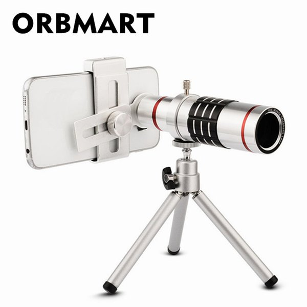 wholesale 18X Zoom Optical Telescope Universal Clip Mobile Phone Lenses with Mini Tripod For Most Cellphone Smartphone