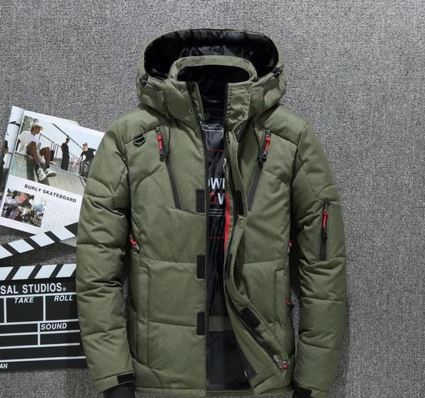 Высокое качество 80% белых Duck Толстые Men S пуховик Snow ветровки Мужской Теплый капюшоном ветрозащитный Зимняя куртка вниз Верхняя одежда