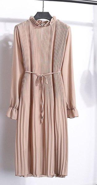 2019 automne mode nouvelle frontière croix robe en mousseline de soie douce robe florale féminine coréenne populaire du commerce extérieur