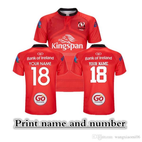 2018 ULSTER RUGBY LEAGUE LONGE JERSEY S-XXXL Imprimir nome e número equipe nacional de rugby camisa Da Liga Jerseys Top quality frete grátis