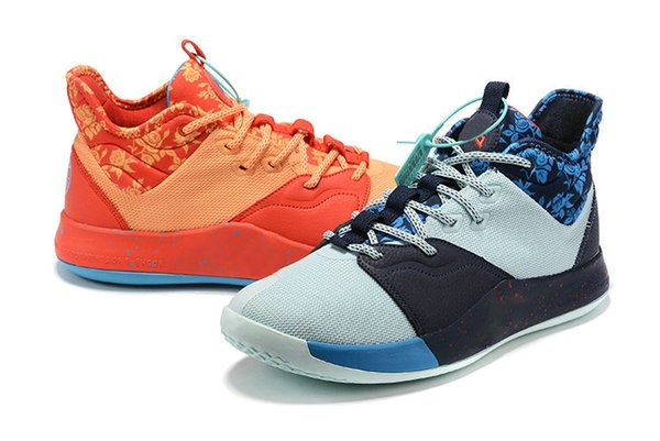 2019 New PG 3 III NASA Apollo Missions EYBL Basketball Shoes PG3 Sneakers Paul George Shoes PlayStation All Star Size US 7-12