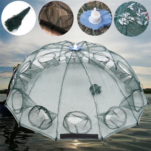 Foldable Crab Shrimp Net Trap Cast Dip Cage Fishing Bait Fish Minnow Crawfish