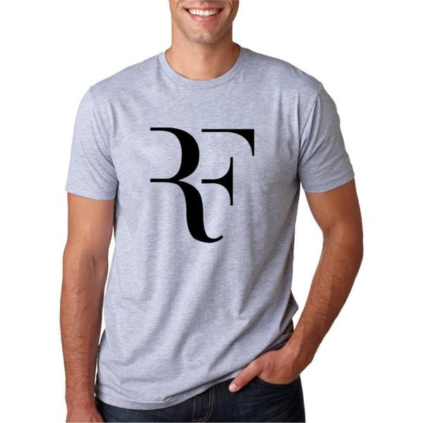 T-shirt à manches courtes Roger Federer Fitness Homme Homme Streetwear Hip Hop coton Tops Tee T-shirt Noir Blanc M-2XL