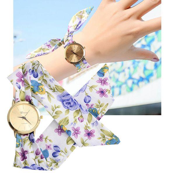 Moda Dorado Oscuro Relojes de Mujer Reloj de Flores Diseño Minimalismo Reloj Mujer Dulce Pulsera Reloj Vestido de Mujer