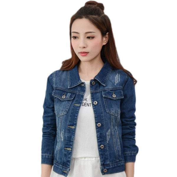 YJSFG HOUSE Hot Fashion Womens Denim Jackets Slim Jeans Coat Casual Long Sleeve Vintage Outwear Spring Top Short Female Coats