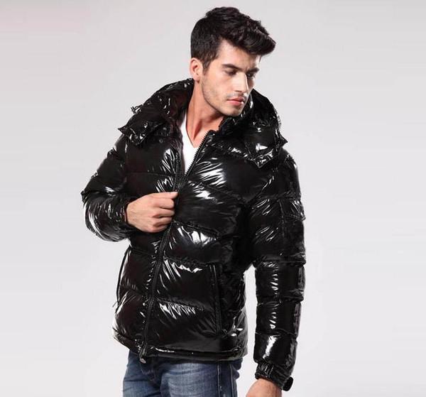 2019 giù ricoprono marchio casuale classico Piumino uomo vestito caldo di piume lucenti opaco Piumini Mens Outdoor Unisex inverno caldo cappotto outwear