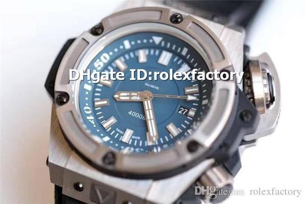 Hot Sale Luxury Diver 731.NX.1190.RX Reloj para hombre Caja de titanio HUB1400 Automático Sapphire Blue Dial Relojes de alta calidad Reserva de energía 42H 48m