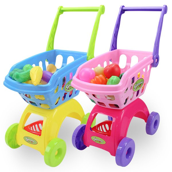 Groceries Toys Children 's Shopping Carts Push Toys 2 Colors Car Mini Trolley Toy