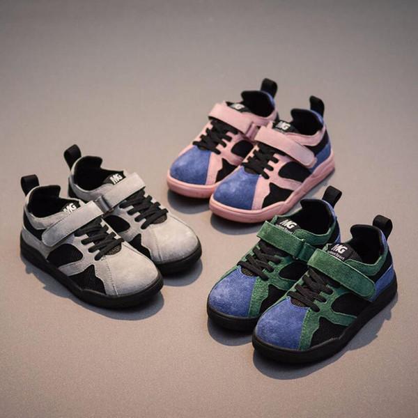 Bebek ayakkabıları Yürüyor Çocuk Spor Koşu Bebek Nefes Ayakkabı Erkek Kız Örgü Yumuşak Sole Ayakkabı Sneakers