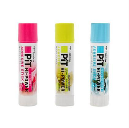 TOMBOW PT-TPK Bâtons de colle solides Fragrance PIT HI-POWER Bâton adhésif non toxique de 10 g de haute viscosité