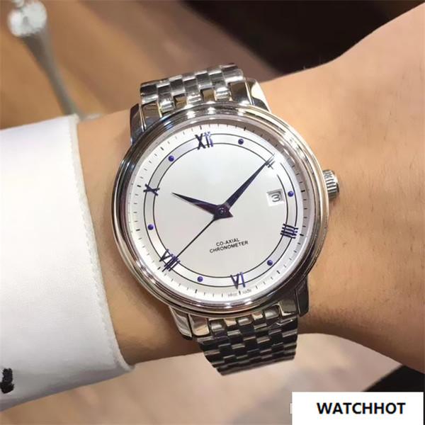 Compre Marca Original De Plata Para Hombre Relojes 38mm Ciudadano Movimiento Automático De Los Hombres Reloj De Acero Inoxidable 316L Pulsera De