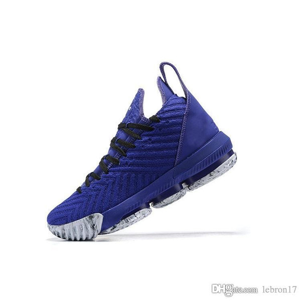 Lebron 16 mens basketball shoes high quality Royal Blue Black Gum Gold White Think Pink youth kids new lebrons sneakers tennis with box size