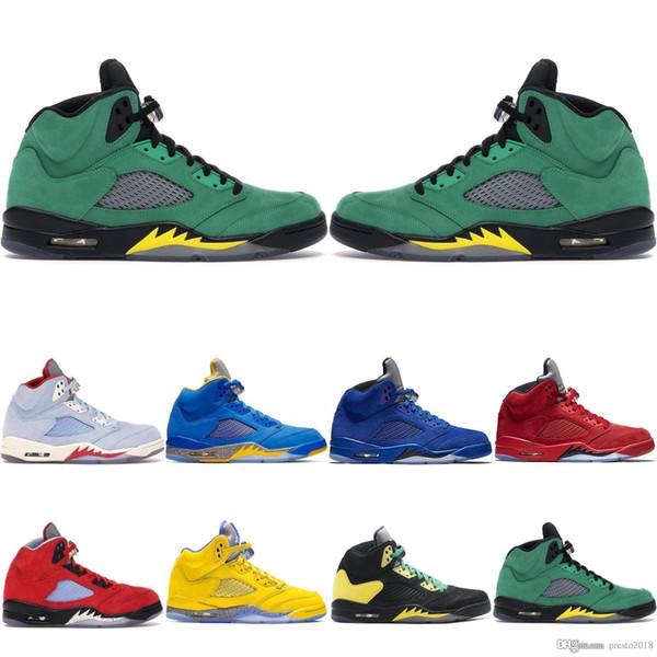 Entrega rápida, tênis de basquete 5 5s 1s 13s 12 homens todos branco vermelho preto verde tênis de ouro sapatos casuais tamanho 7-13 GGGH-