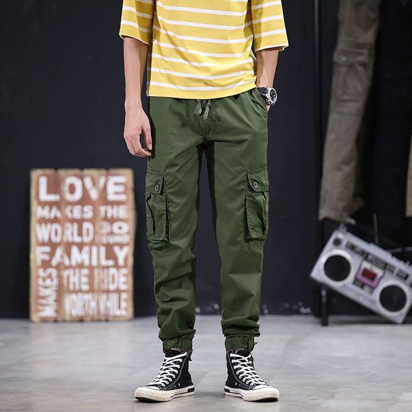 Men's Cool Summer Hot Leisure Pants Multi-Pocket Spring Overalls Joggers Pants Hip Hop Sportswear Track cargo Men trousers