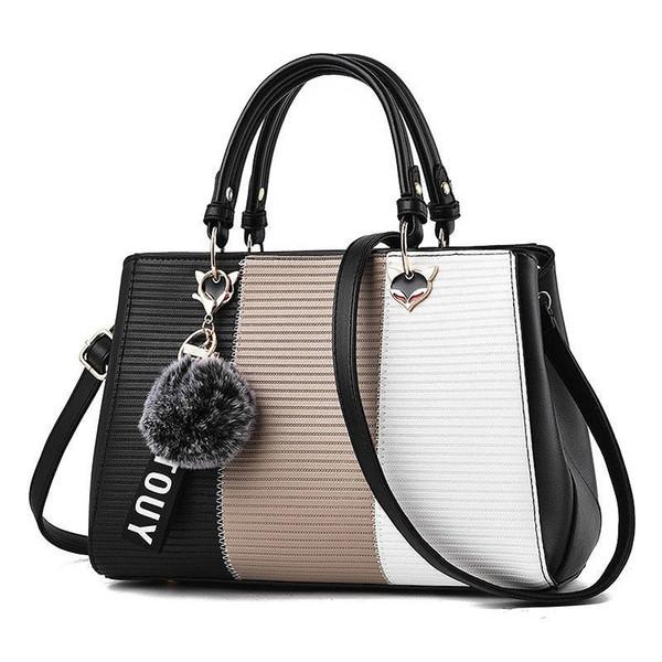 good quality Messenger Bag Women Leather Bags Handbags Women Famous Brands Bag For Girls 2019 New Hair Ball Ornaments Tote Crossbody