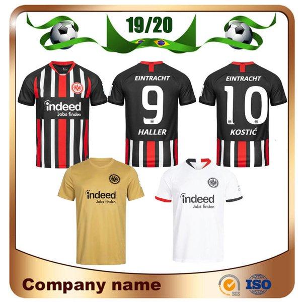 Eintracht Frankfurt DA 1919 Maillot 19/20 Frankfurt Accueil FERNANDES DE GUZMAN JOVIC Extérieur Blanc HALLER KOSTIC 3ème Uniforme de Football