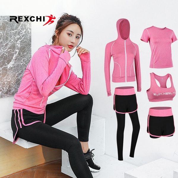 ac5788e855120 Kadın Spor Giyim Yoga Aşınma Seti Gym Fitness Suit Açık Koşu Koşu Giysileri Eğitim  Egzersiz için